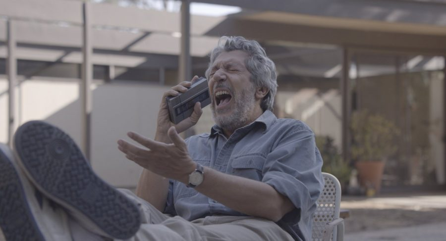 Alain Chabat laughing in Reality movie