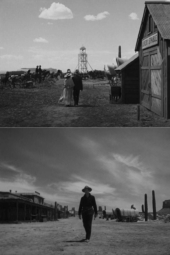 Stills from two of the most memorable sequences in the movie