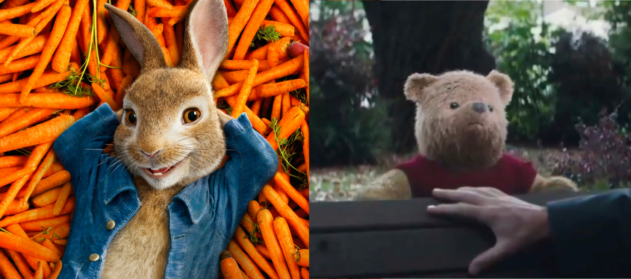The Tonal Difference Between Peter Rabbit 2018 And Christopher Robin 2018 High On Films