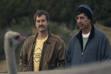 Mark Duplass and Ray Romano taking a lazy stroll