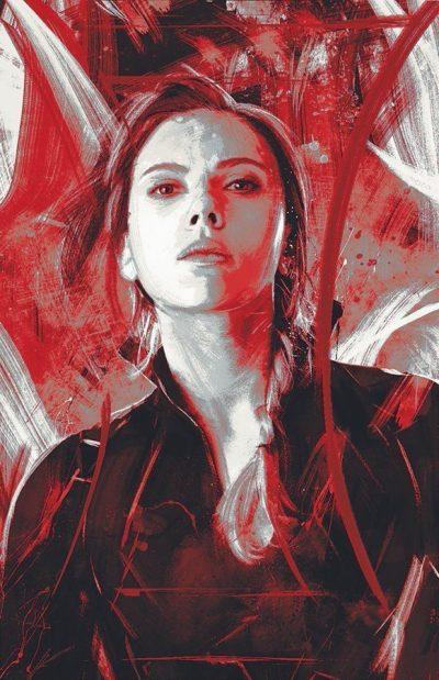 Scarlett Johansson Avengers Endgame in the fan art poster of Black Widow