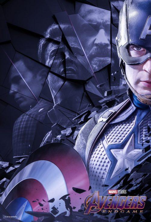 Steve Rogers aka Captain America in the fan art poster