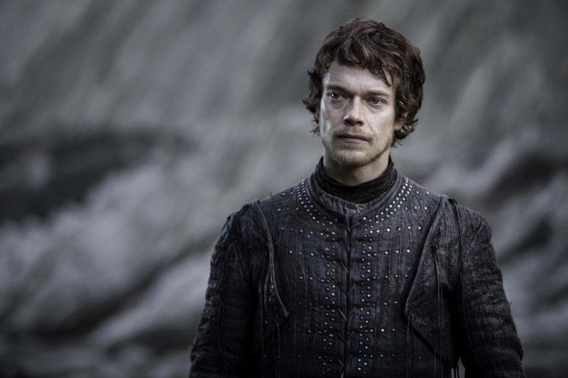 Theon Grey joy hugging Sansa Stark in Game of Thrones Season 8