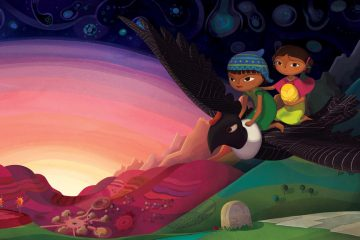 Naira and Telpulpai flying on Condor in Pachamama