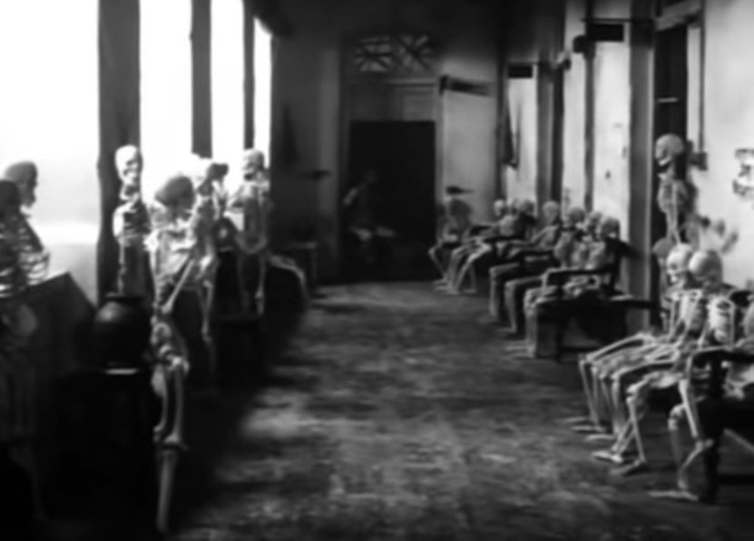 The famous Skulls Scene in Satyajit Ray's Pratidwandi (1970)