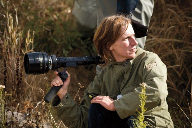 Kelly Reichardt on the set of Certain Woman