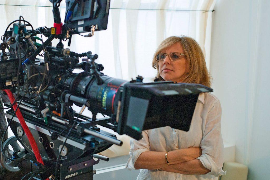 Nancy Meyers on the set