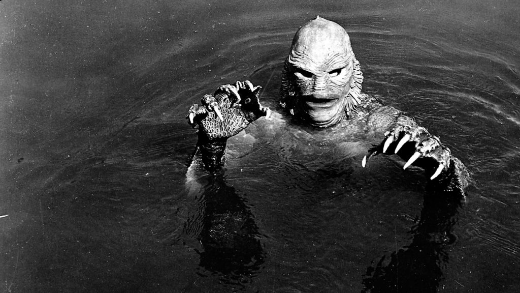 Black and White Horror Films Creature from the black lagoon